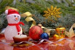 Juguetes de la Navidad de la Navidad Imágenes de archivo libres de regalías