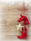 Juguetes de la Navidad del vaquero Imagen de archivo