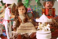 Juguetes de la Navidad del vintage Imagen de archivo
