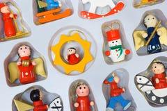 Juguetes de la Navidad en rectángulo Imágenes de archivo libres de regalías