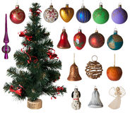 Juguetes de la Navidad fijados Imágenes de archivo libres de regalías