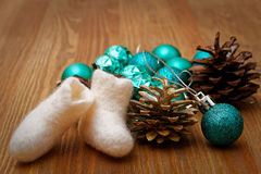 Juguetes de la Navidad y del Año Nuevo Imágenes de archivo libres de regalías
