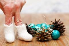 Juguetes de la Navidad y del Año Nuevo Imagen de archivo
