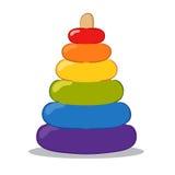 Juguetes de la pirámide del bebé Foto de archivo libre de regalías