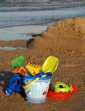 Juguetes de la playa Fotografía de archivo libre de regalías