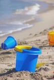 Juguetes de la playa Fotos de archivo libres de regalías
