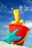 Juguetes de la playa Foto de archivo libre de regalías