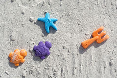 Juguetes de la playa Fotos de archivo