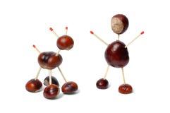 Juguetes de las castañas Imagen de archivo libre de regalías