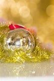 Juguetes de las decoraciones de la Navidad Fotos de archivo