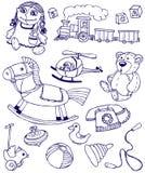 Juguetes de los Doodles Imágenes de archivo libres de regalías