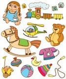 Juguetes de los Doodles Imagen de archivo