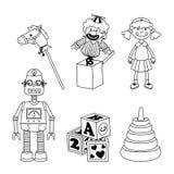Juguetes de los niños Foto de archivo libre de regalías