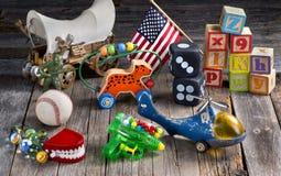 Juguetes de los niños pequeños Fotos de archivo libres de regalías