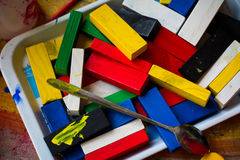 Juguetes de madera fotos de archivo
