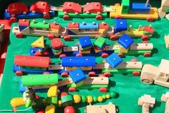 Juguetes de madera Foto de archivo libre de regalías
