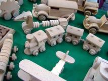 Juguetes de madera Imágenes de archivo libres de regalías