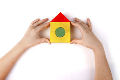 Juguetes de madera coloreados imagen de archivo libre de regalías