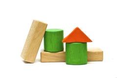 Juguetes de madera coloreados Imagen de archivo