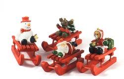 Juguetes de madera de la Navidad Fotos de archivo libres de regalías