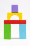 Juguetes de madera de los bloques Fotos de archivo libres de regalías