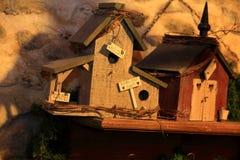 Juguetes de madera hechos por el hogar dulce casero de las manos Fotos de archivo