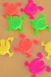 Juguetes de salto de la rana Foto de archivo libre de regalías