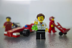 Juguetes de Shell Ferrari Lego Fotos de archivo libres de regalías