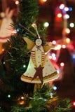 Juguetes del árbol de navidad, ángel juguete hecho a mano de la decoración de la Navidad Imagen de archivo