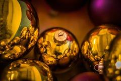 Juguetes del árbol de navidad Fotos de archivo