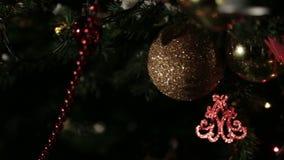 Juguetes del árbol de navidad almacen de video