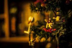 Juguetes del árbol de navidad Fotografía de archivo