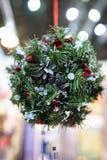 Juguetes del Año Nuevo en la Navidad justa Imagenes de archivo