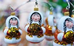 Juguetes del Año Nuevo en la Navidad justa Fotos de archivo