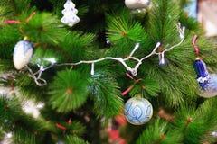 Juguetes del Año Nuevo en la Navidad justa Imagen de archivo