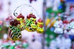 Juguetes del Año Nuevo en la Navidad justa Foto de archivo libre de regalías