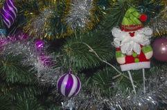 Juguetes 1 del Año Nuevo del fondo Foto de archivo libre de regalías