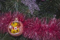 Juguetes 3 del Año Nuevo del fondo Imagen de archivo libre de regalías