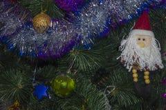 Juguetes 4 del Año Nuevo del fondo Fotos de archivo libres de regalías