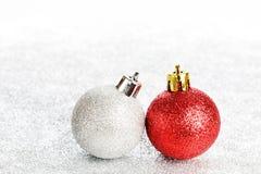 Juguetes del Año Nuevo o de la Navidad Foto de archivo