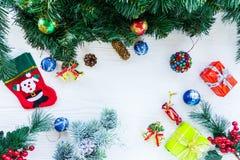 Juguetes del Año Nuevo y de la Navidad Fotografía de archivo libre de regalías