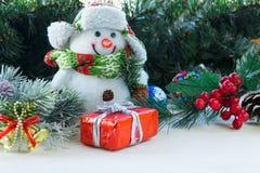 Juguetes del Año Nuevo y de la Navidad Imagenes de archivo