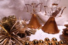 Juguetes del Año Nuevo y de la Navidad Foto de archivo libre de regalías