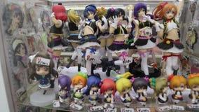 Juguetes del animado en Tokio Imagen de archivo libre de regalías
