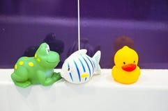 Juguetes del baño Foto de archivo libre de regalías