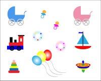 Juguetes del bebé ilustración del vector