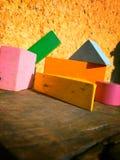 Juguetes del bloque de maderas Foto de archivo libre de regalías