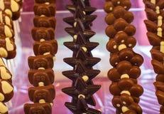 Juguetes del chocolate Foto de archivo libre de regalías