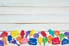 Juguetes del color Fotografía de archivo libre de regalías