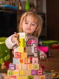 Juguetes del cubo Foto de archivo libre de regalías
